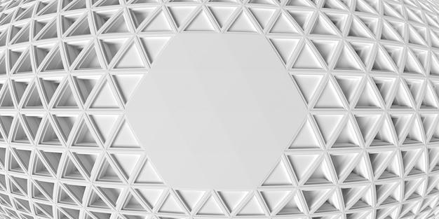 Fondo de efecto de espacio de copia de ojo de pez geométrico blanco