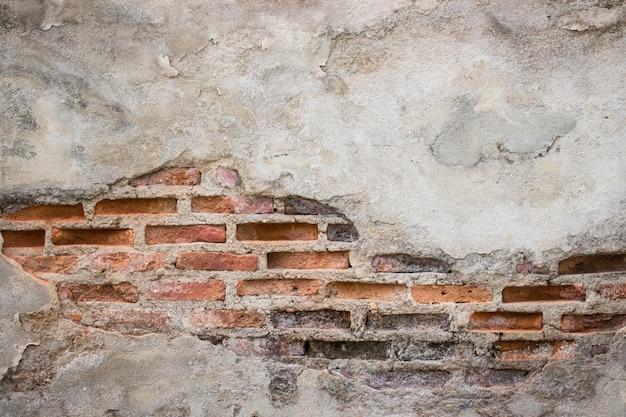 Fondo envejecido de la pared de la calle, viejo fondo de la textura del ladrillo rojo