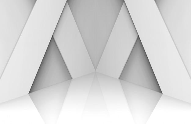 Fondo de escenario de panel blanco moderno