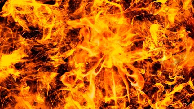 Fondo de escritorio de fuego abstracto, imagen realista de llama ardiente