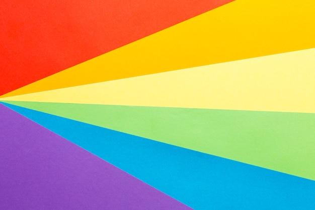Fondo de espacio de copia de bandera de orgullo de arco iris