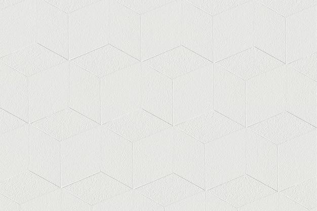 Fondo estampado cúbico artesanal de papel blanco 3d