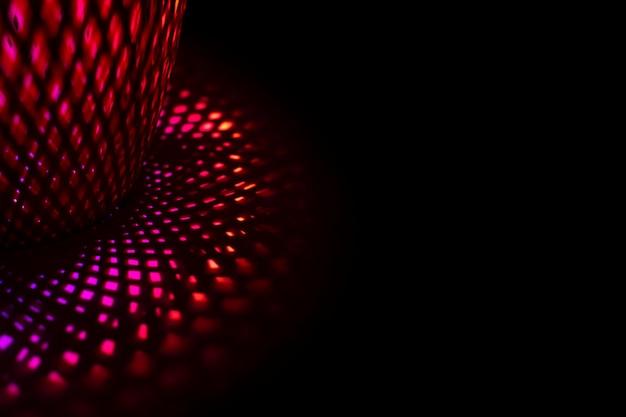 Fondo estético con efecto de luz led de neón abstracto
