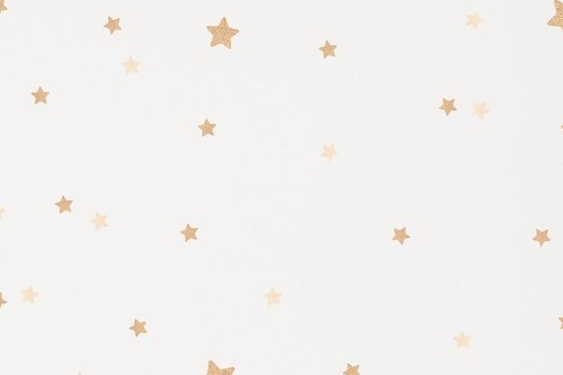 Fondo de estrellas doradas brillantes para niños