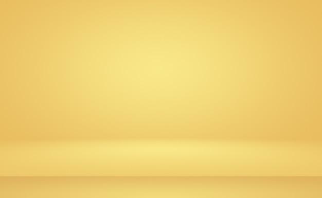 Fondo de estudio degradado amarillo oro de lujo abstracto.