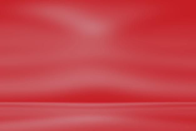 Fondo de estudio de luz roja abstracta con degradado.