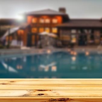 Fondo de exhibición de producto de fondo de villa de turismo de vacaciones