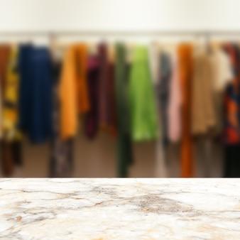 Fondo de exhibición de producto de sala de exposición de vestido de mesa de mármol