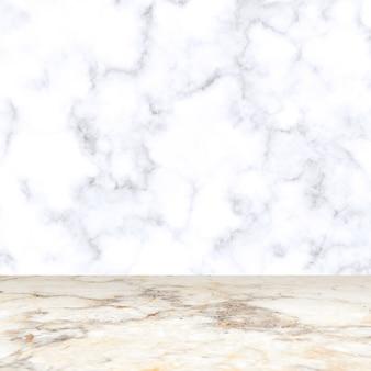 Fondo de exhibición de producto de sala de mármol blanco