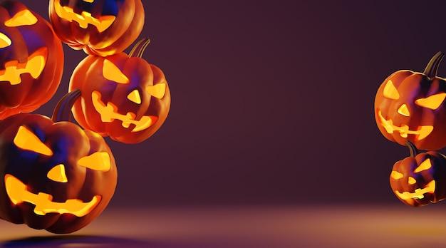 Fondo feliz halloween con espacio de copia.