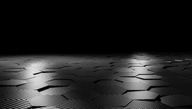 Fondo de fibra de carbono hexagonal