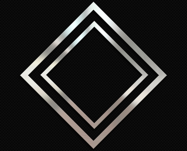 Fondo de fibra de carbono con un marco de diamante de metal.