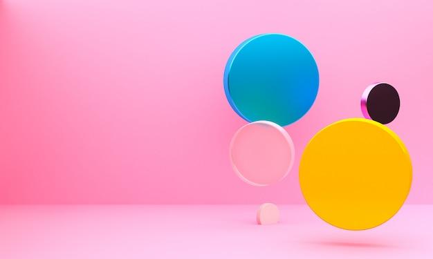 Fondo de figuras geométricas abstractas minimalistas