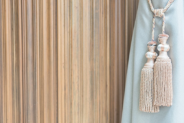 Fondo del filtro textil borla marrón
