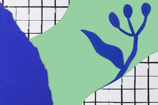Fondo floral con manualidades de papel diy