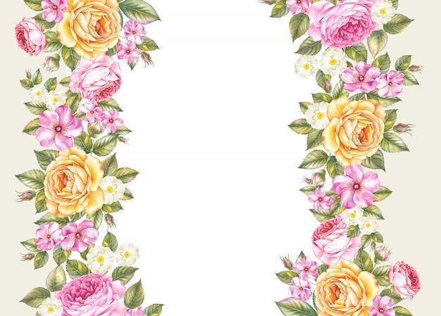 El fondo de flores botánicas