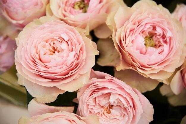 Fondo de flores hermosas para el ramo de la boda