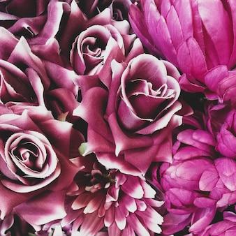 Fondo de flores de rosas de papel