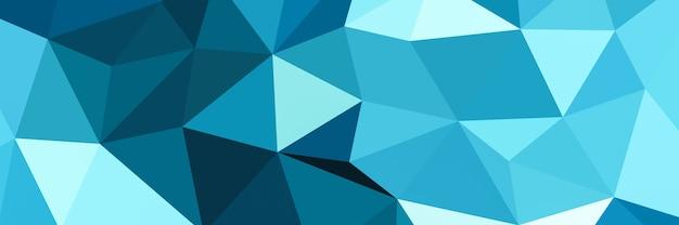Fondo de forma de triángulo azul abstracto