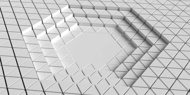 Fondo de formas geométricas 3d de alta vista