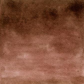 Fondo de fotograma completo de lienzo pintado con acuarela marrón con textura irregular manchada. ilustración dibujada a mano