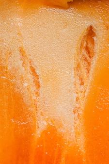 Fondo de frutas naranja vista superior