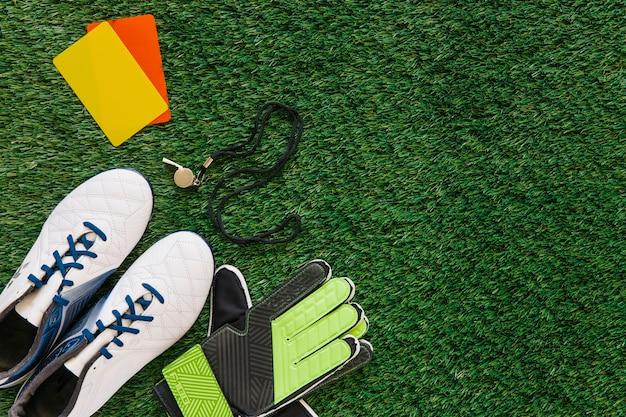 Fondo de fútbol con copyspace