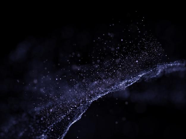 Fondo futurista 3d con diseño de partículas