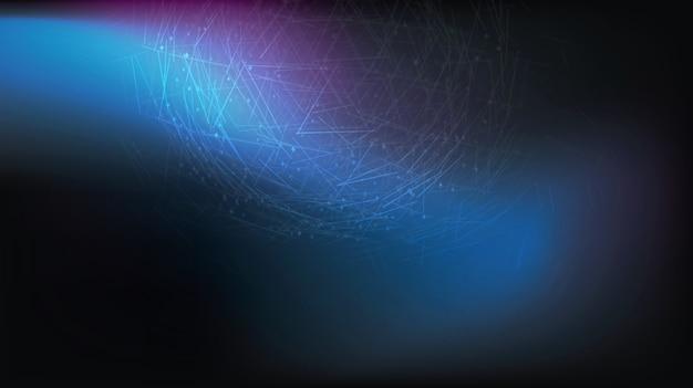 Fondo futurista, concepto de big data poligonal del ciberespacio