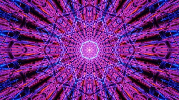 Fondo futurista con luz de neón abstracta brillante