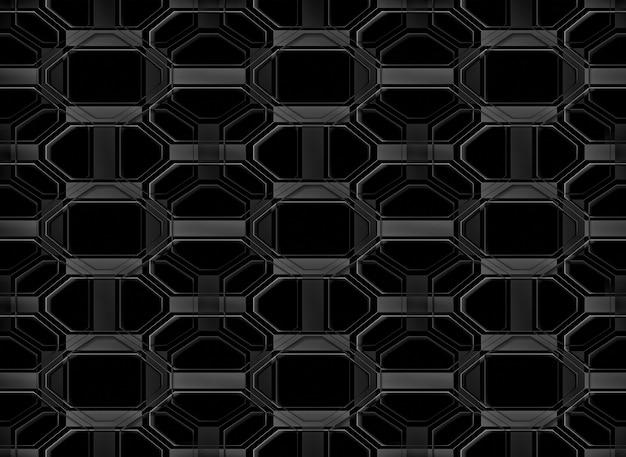 Fondo geométrico al azar moderno inconsútil de la pared del modelo de rejilla del negro de la forma.