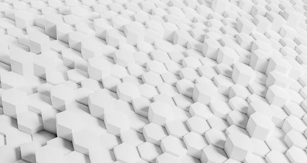 Fondo geométrico creativo con hexágonos blancos