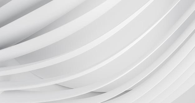 Fondo geométrico moderno con líneas redondas blancas