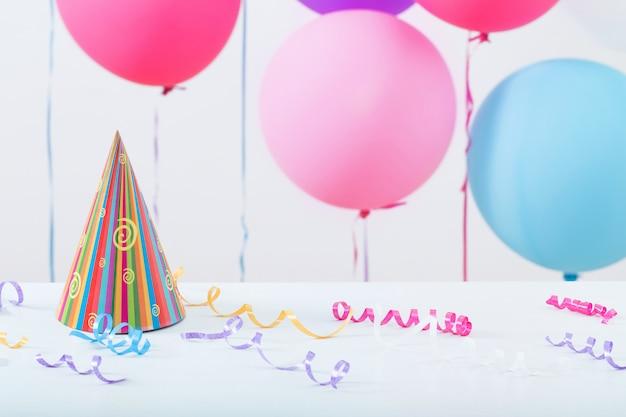 Fondo de globos para cumpleaños