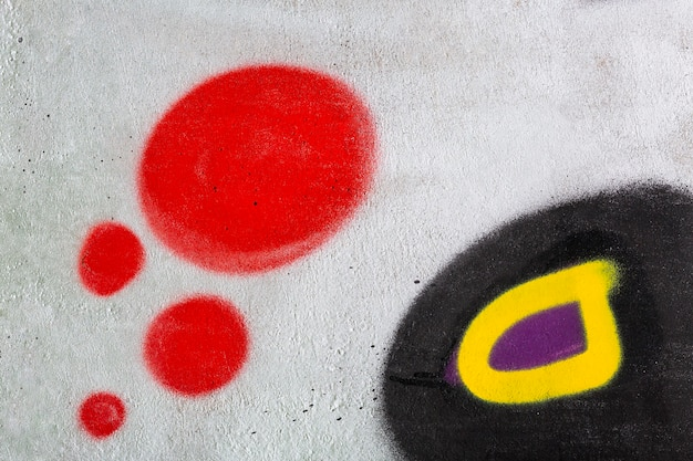 Fondo de graffiti mural abstracto
