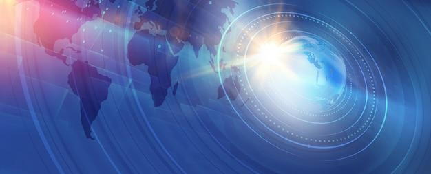 Fondo gráfico moderno de noticias mundiales digitales