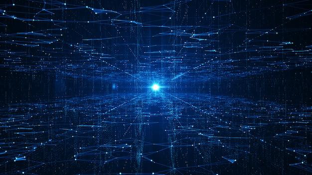 Fondo de grandes datos de tecnología abstracta