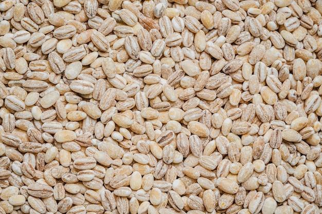 Fondo de granos de café crudo vista superior
