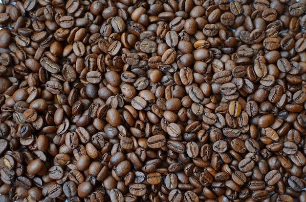 Fondo de granos de café tostado