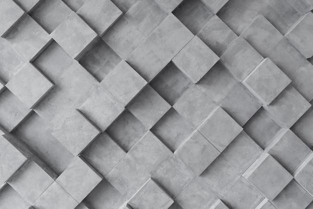 Fondo gris 3d con cuadrados