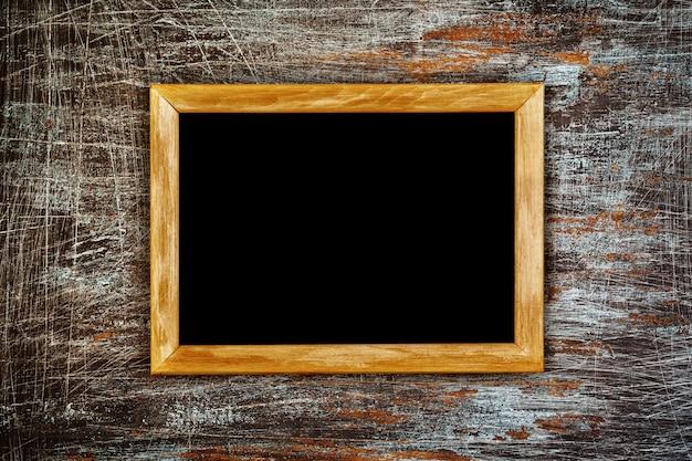 Fondo grunge con marco de madera