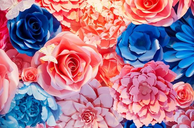 Fondo de hermosas flores para la escena de la boda