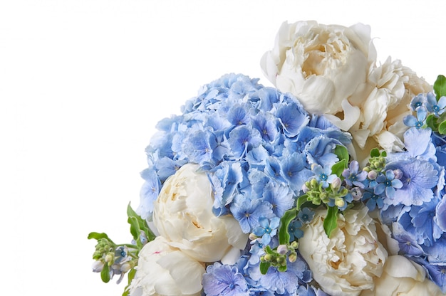 Fondo con hermosas flores peonías.
