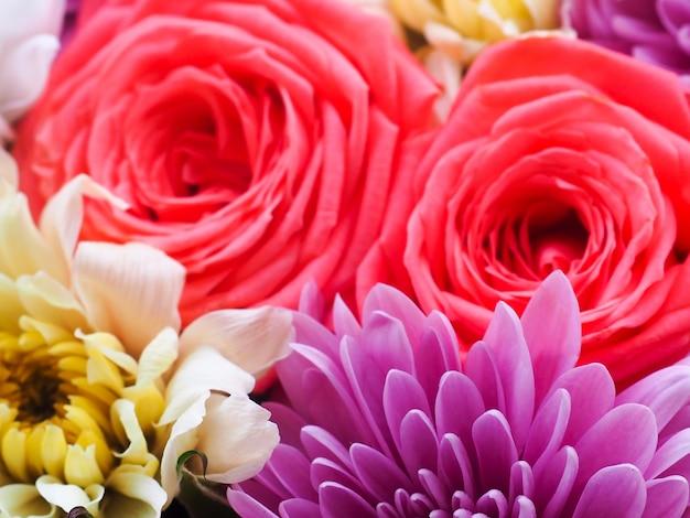 Fondo hermoso de las flores para la escena de la boda