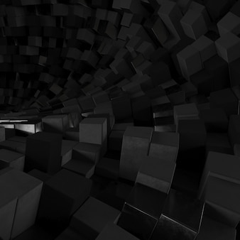 Fondo hexagonal abstracto geométrico 3d