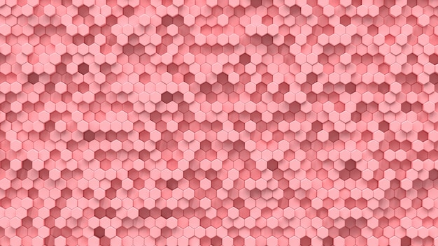 Fondo hexagonal rosa.