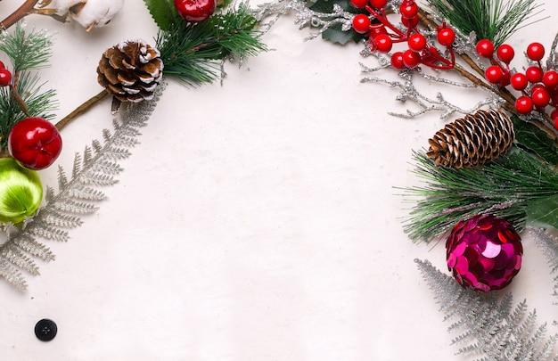 Fondo de hormigón blanco festivo de navidad.