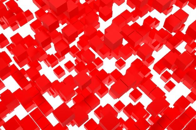 Fondo de ilustración 3d, textura de una gran cantidad de formas geométricas de palomas de diferentes tamaños y formas.