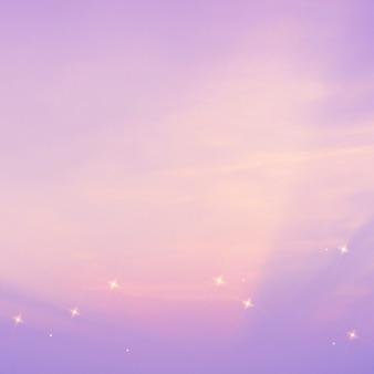 Fondo de imagen de brillo de patrón de cielo estrellado púrpura