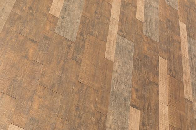 Fondo, una imagen monocromática de la pared marrón de azulejos del edificio.